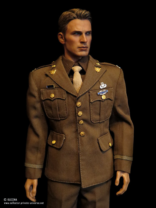 Captain America (Age of Ultron extra head) in army uniform