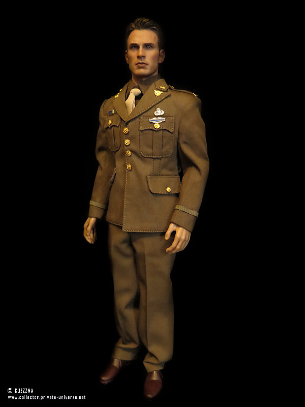 Captain America (Age of Ultron extra head) in army uniform (full